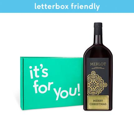 Alcohol Gifts - Merry Christmas Merlot Letterbox Wine - Image 3