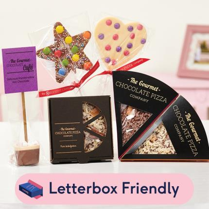 Letterbox Gifts - Gourmet Chocolate Pizza Co. Letterbox Gift - Image 1