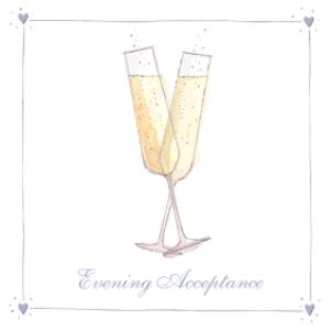 Greeting Cards - Illustrated Champagne Toast Personalised Card - Image 1