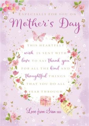 Greeting Cards - Mother's Day Card - Traditional Verse Card - Heartfelt Words - Image 1