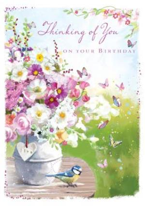 Greeting Cards - Birthday Card - Thinking Of You - Traditional - Image 1