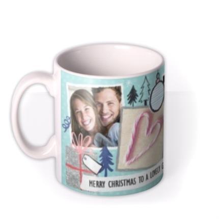 Mugs - Merry Christmas Girlfriend Photo Upload Mug - Image 1