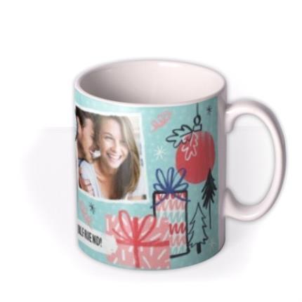 Mugs - Merry Christmas Girlfriend Photo Upload Mug - Image 2
