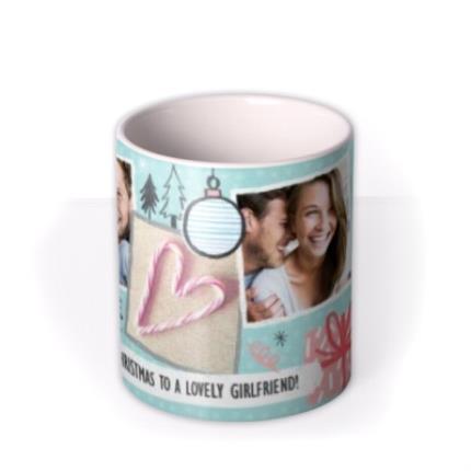 Mugs - Merry Christmas Girlfriend Photo Upload Mug - Image 3