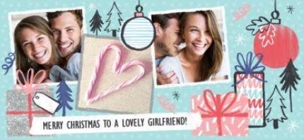 Mugs - Merry Christmas Girlfriend Photo Upload Mug - Image 4