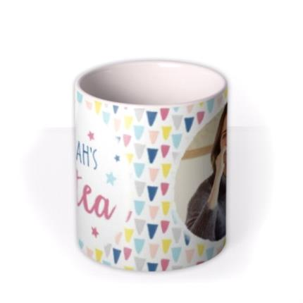 Mugs - Pastel Triangles Custom Text Photo Birthday Mug - Image 3