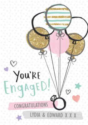 You Re Engaged Engagement Congratulations Card Moonpig