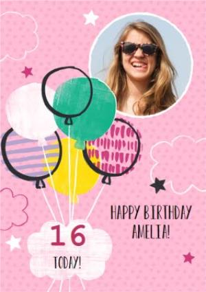 Greeting Cards - 16 today birthday photo upload card - Image 1