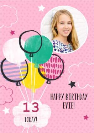 Greeting Cards - 13 today birthday photo upload card - Image 1