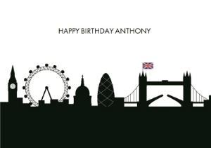 Greeting Cards - London Skyline Birthday Card - Image 1