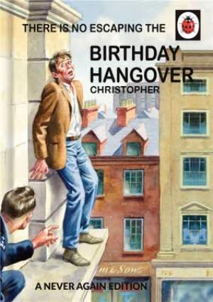 Greeting Cards - Ladybird Books for Grown-Ups Birthday Hangover Card - Image 1