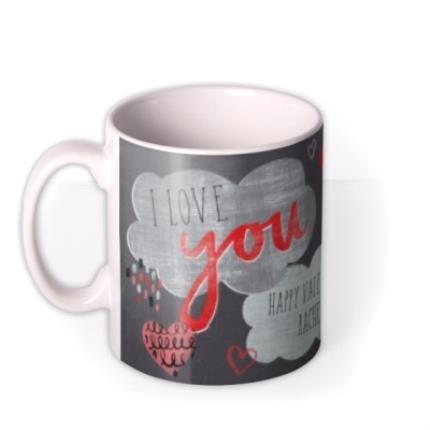 Mugs - I Love You Heart Photo Upload Mug - Image 1