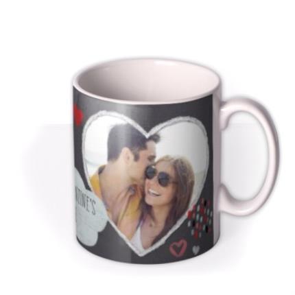 Mugs - I Love You Heart Photo Upload Mug - Image 2