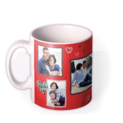 Mugs - Heart and I Love You Photo Upload Mug - Image 1