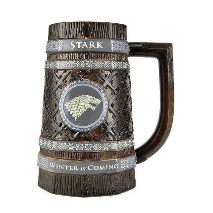 Gadgets & Novelties - Game of Thrones Embossed Stein Mug - Stark - Image 1