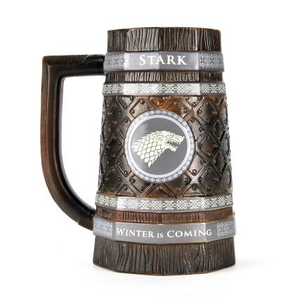 Gadgets & Novelties - Game of Thrones Embossed Stein Mug - Stark - Image 2