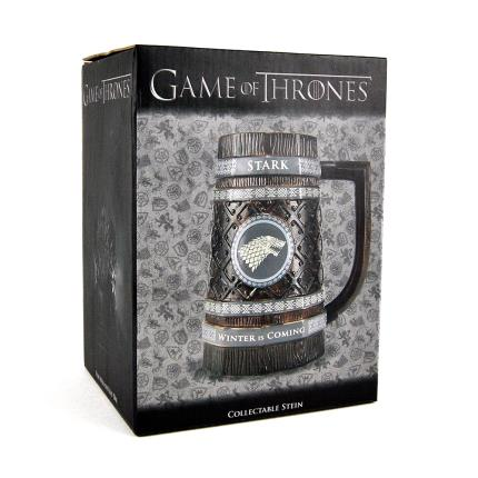 Gadgets & Novelties - Game of Thrones Embossed Stein Mug - Stark - Image 3