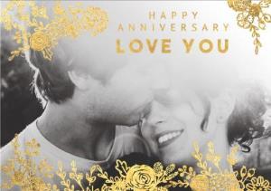 Greeting Cards - Anniversary Card - Happy Anniversary - Photo Upload - Image 1