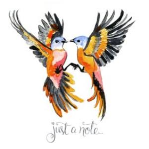 Greeting Cards - Birds In Flight Personalised Just A Note Greetings Card - Image 1