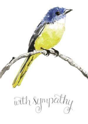 Greeting Cards - Illustrated Bird With Sympathy Card - Image 1