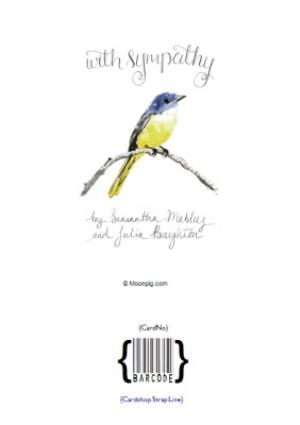 Greeting Cards - Illustrated Bird With Sympathy Card - Image 4
