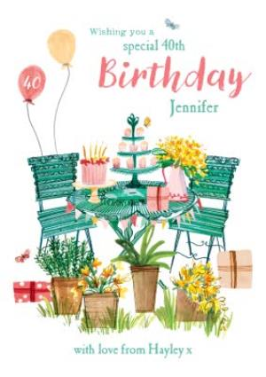 Greeting Cards - Birthday Card - Happy Birthday - 40th - Image 1