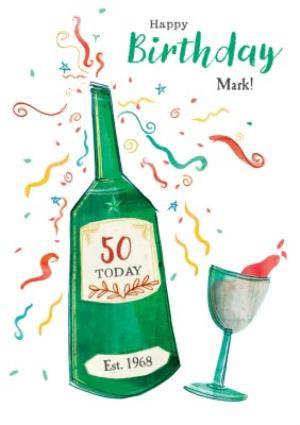 Greeting Cards - Birthday Card - Happy Birthday - 50 Today - Image 1