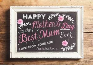 Greeting Cards - Best Mum Happy Mothers Day Personalised Card - Image 1