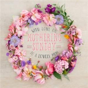 Greeting Cards - Floral Mother's Day Card - With Love on Mothering Sunday  - Image 1