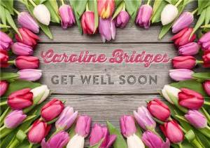 Greeting Cards - Limelight Personalised Get Well Soon Tulip Card - Image 1