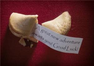 Greeting Cards - A Great New Adventure Fortune Cookie Personalised Good Luck Card - Image 1