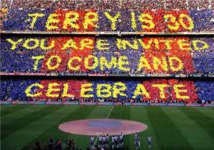 Greeting Cards - Big Stadium Crowd Personalised Message Card - Image 1