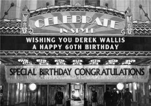 Greeting Cards - Black & White 60th Birthday Card - Image 1
