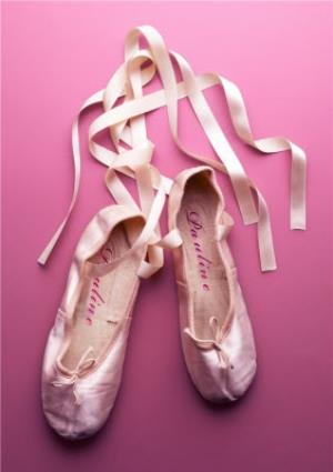 Greeting Cards - Ballet Shoes Personalised Greetings Card - Image 1