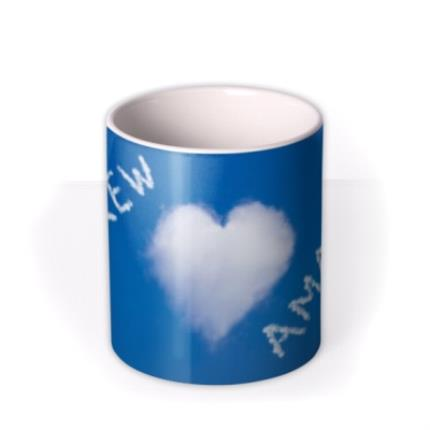 Mugs - Valentine's Day Heart Clouds Personalised Mug - Image 3