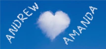 Mugs - Valentine's Day Heart Clouds Personalised Mug - Image 4