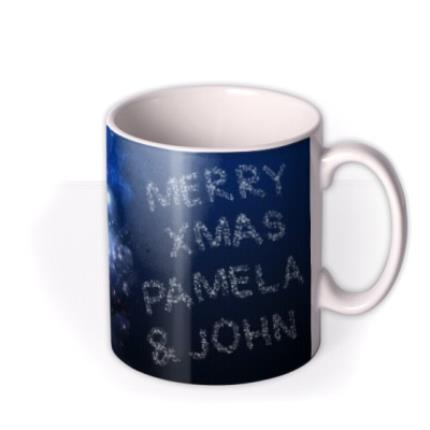 Mugs - Christmas Flying Santa Personalised Mug - Image 2