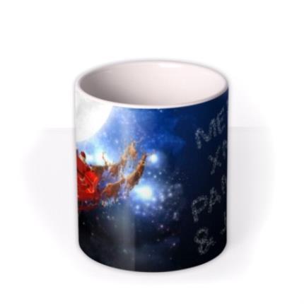 Mugs - Christmas Flying Santa Personalised Mug - Image 3