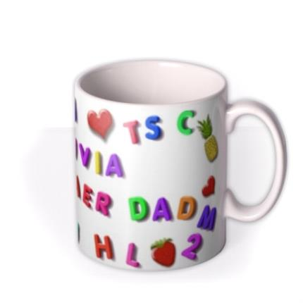 Mugs - Magnetic Letters, Fruit, and Heart Custom Text Mug - Image 2