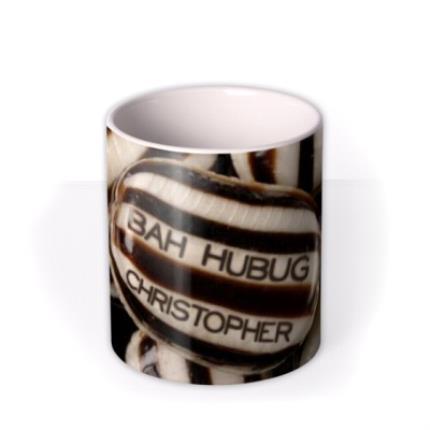 Mugs - Christmas Bah Humbug Personalised Mug - Image 3