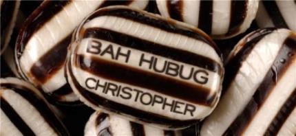 Mugs - Christmas Bah Humbug Personalised Mug - Image 4