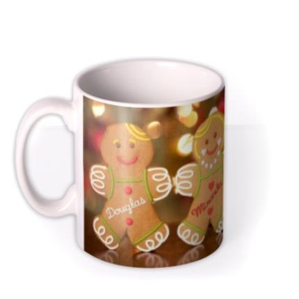 Mugs - Christmas Gingerbread Family Personalised Mug - Image 1