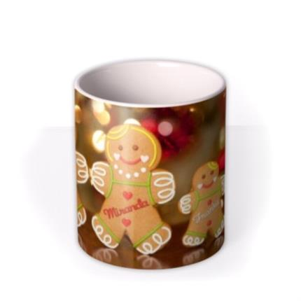Mugs - Christmas Gingerbread Family Personalised Mug - Image 3