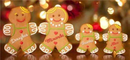 Mugs - Christmas Gingerbread Family Personalised Mug - Image 4