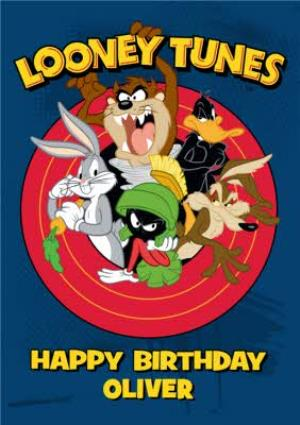 Greeting Cards - Looney Tunes Characters Personalised Happy Birthday Card - Image 1