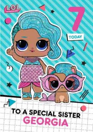 Greeting Cards - LOL Surprise 7 Today Special Sister Birthday Card  - Image 1