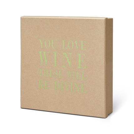Gift Boxes - You Love Wine Chocolates and White Wine Gift Box - Image 3