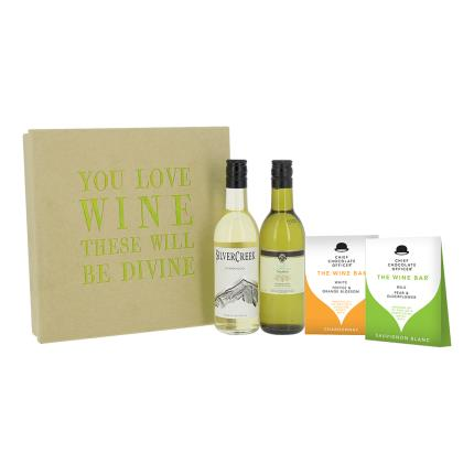 Gift Boxes - You Love Wine Chocolates and White Wine Gift Box - Image 4