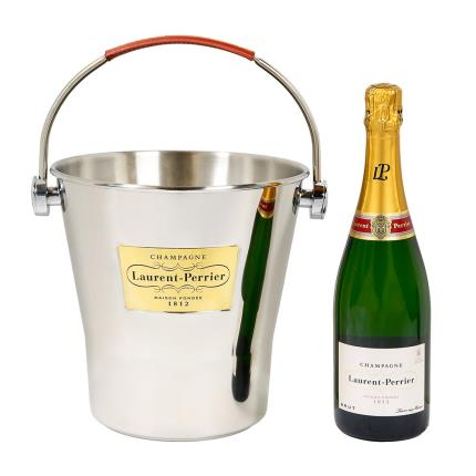 Alcohol Gifts - Laurent Perrier Brut Champagne and Ice Bucket  - Image 1