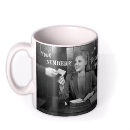 Mugs - Woman Receiving Phone Number Novelty Mug - Image 1